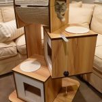 Hogen Vesver contemporary cat furniture with appealing boxes made of high quality wood for your lovely cat