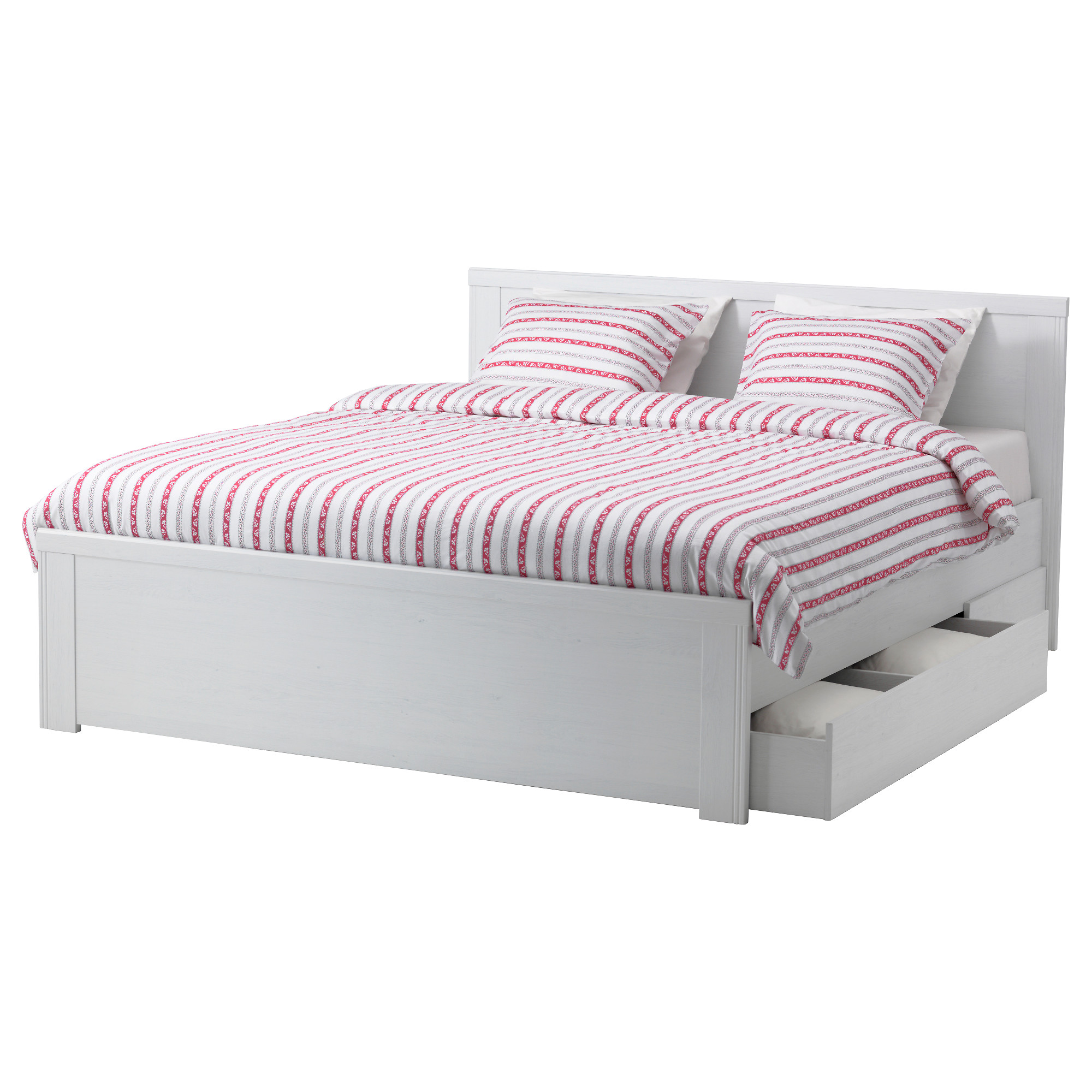 Ikea bed frame with drawers homesfeed for Ikea mattress frame