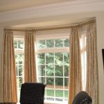 Inspiring Gold Design Of Curtains With Curtain Rods For Bay Windows
