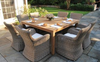 Kingsley Bate Sag Harbor For Outdoor Dining Furniture With Large Square Table