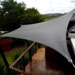Large black shade sail designed by DIY for home deck