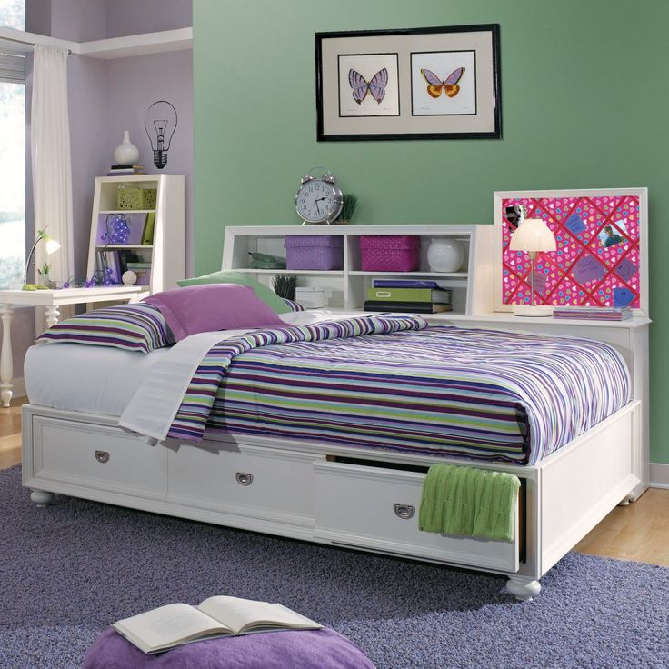 Large daybed frame with drawers and bookcase - Daybed Full Size Frame: Variants Of Design And Finishing HomesFeed