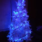 Led Blue And White Christmas Lights On Tree