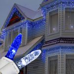 Led Blue And White Christmas Lights Outdoor For Home