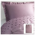 Light purple comforter cover from IKEA with beautiful pattern