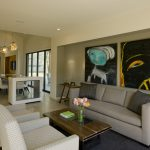 Living Room Design Inspiration With Big Frames And Grey Sectional Sofa