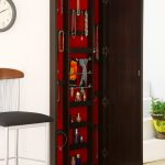 Long Wooden Mounted Wall Hanging Jewelry Armoire