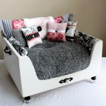 Luxury Stylish Dog Beds With White Design Grey Matters And Pretty Pillows