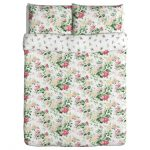Medium sized comforter cover IKEA with flower pattern