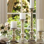 Mercury glass candle designs