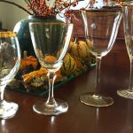 Mixed-Old-Gold-Set-of-Four-Vintage-Crystal-Gold-Rimmed-Wine-Glasses-from-1950s-and-hand-wash-only-also-Gold-rims-dont-farewell-in-dishwashers-or-microwaves