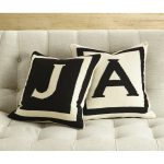 Modern Decor Letter Monogrammed Throw Pillows