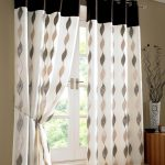 Modern Interior White Patterned Curtains For Doors