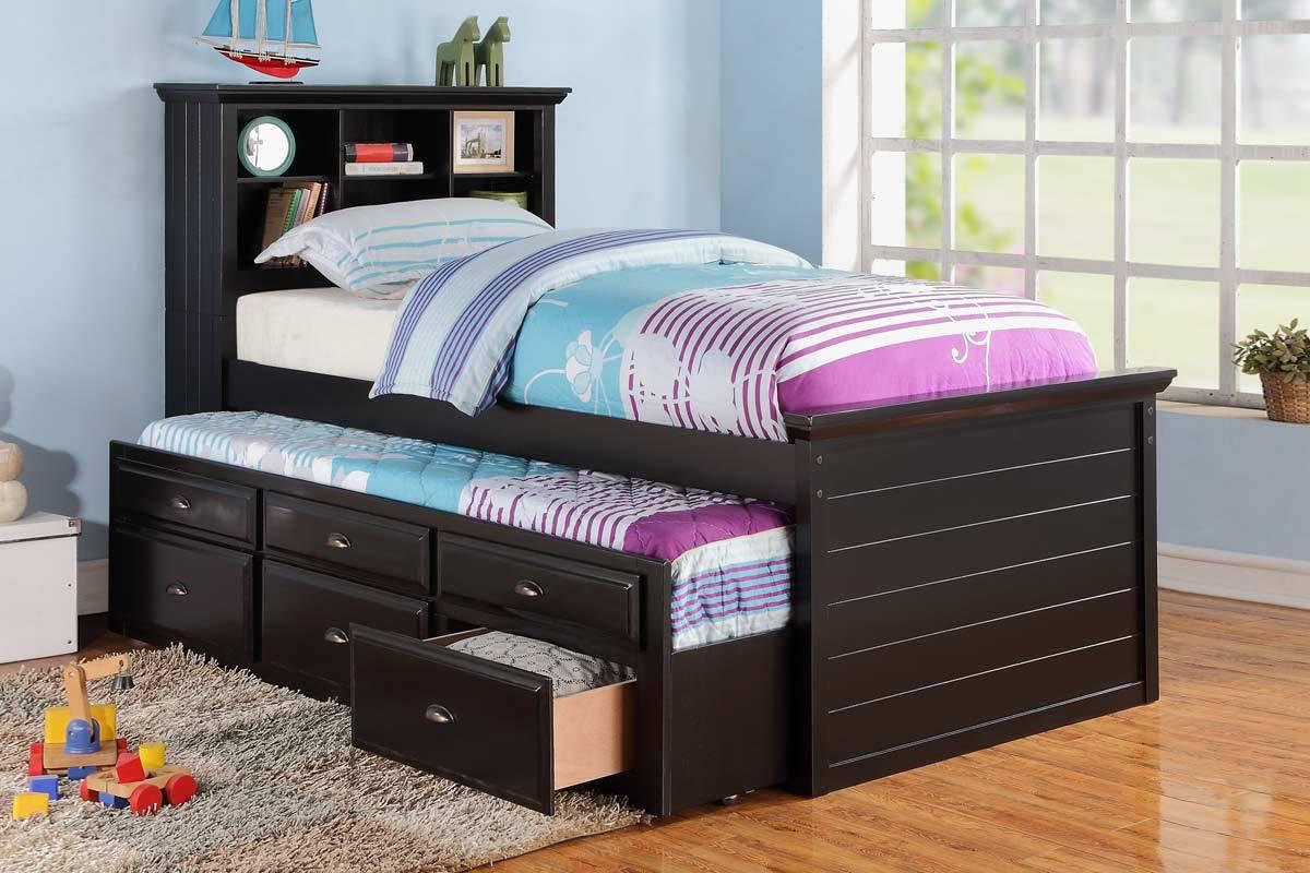 trundle beds for children homesfeed. Black Bedroom Furniture Sets. Home Design Ideas