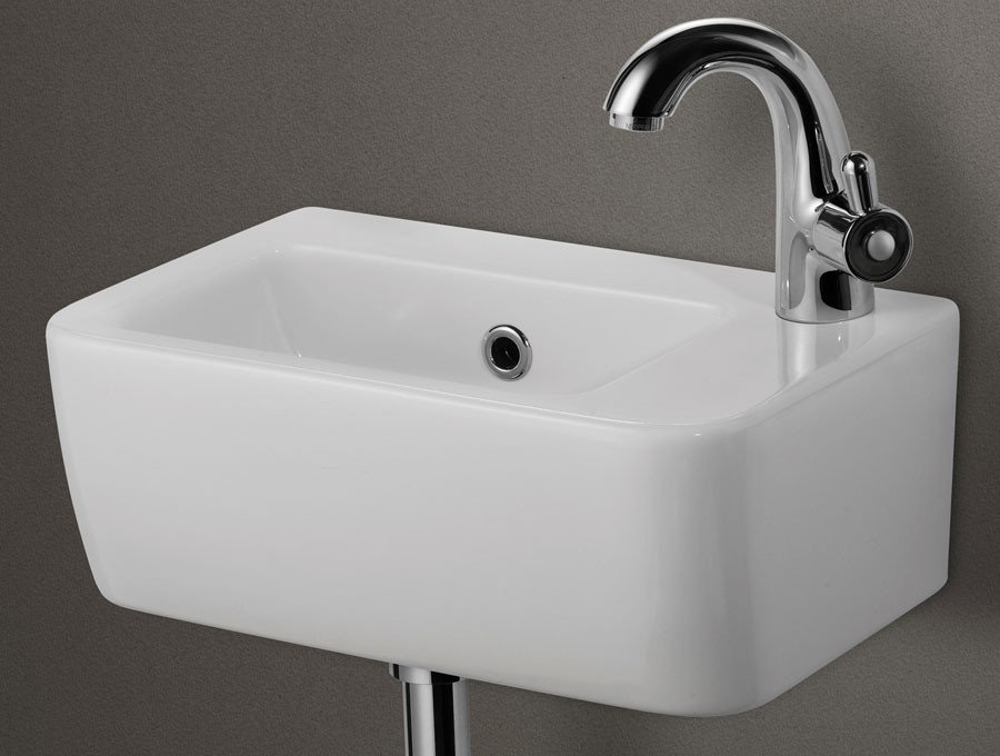 Small wall mount sink homesfeed for Tiny bathroom sink