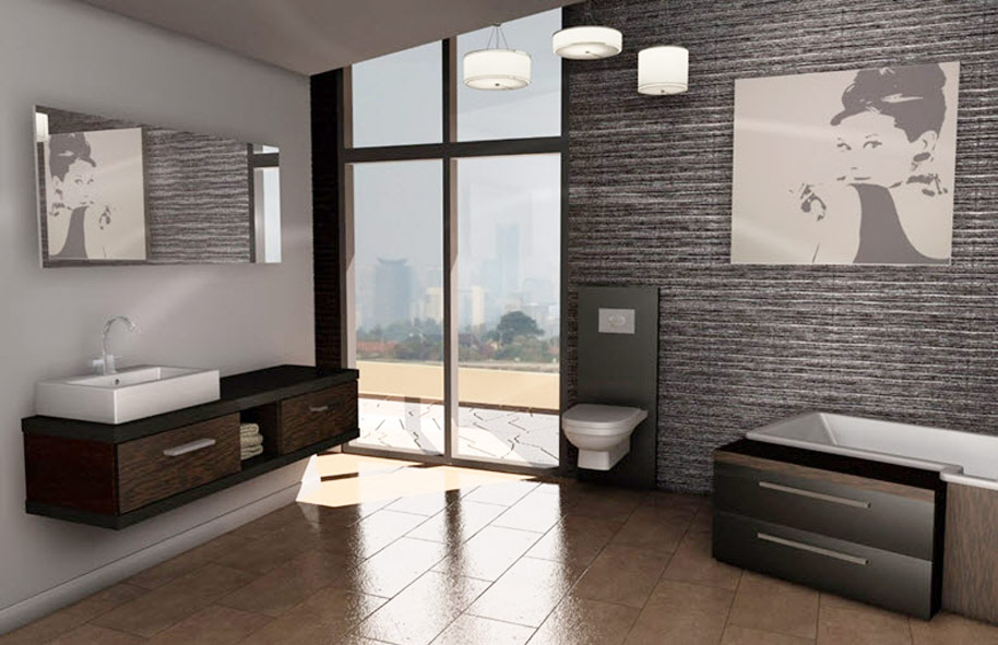 3d bathroom planner create a closely real bathroom for Bathroom design planner