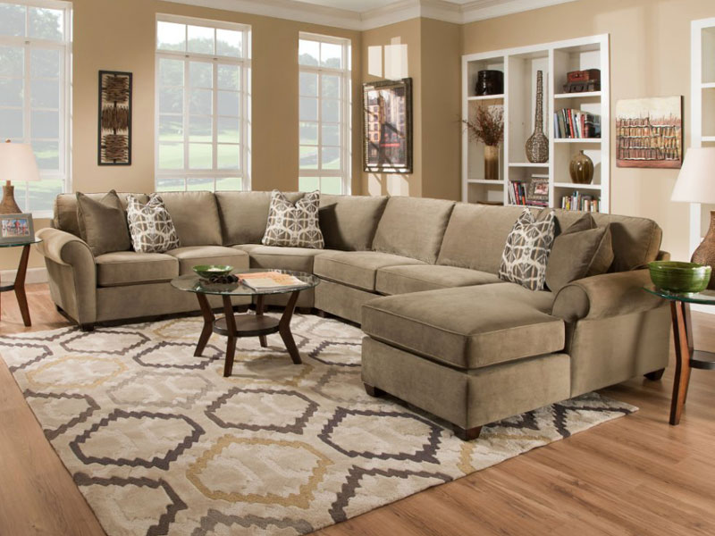most comfortable living room furniture. Most comfortable sectional sofa made of soft fabric and patterned plus  oval coffee table Comfortable Sectional Sofa for Fulfilling a Pleasant