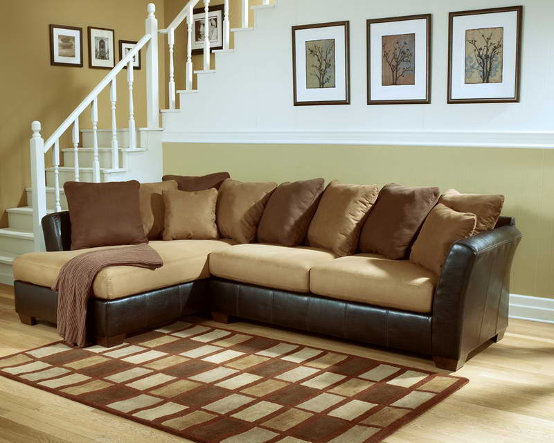 Most Comfortable Sectional Sofa With Chaise Together Brown Decorative Cushions Made Of Comfort Fabric Plus