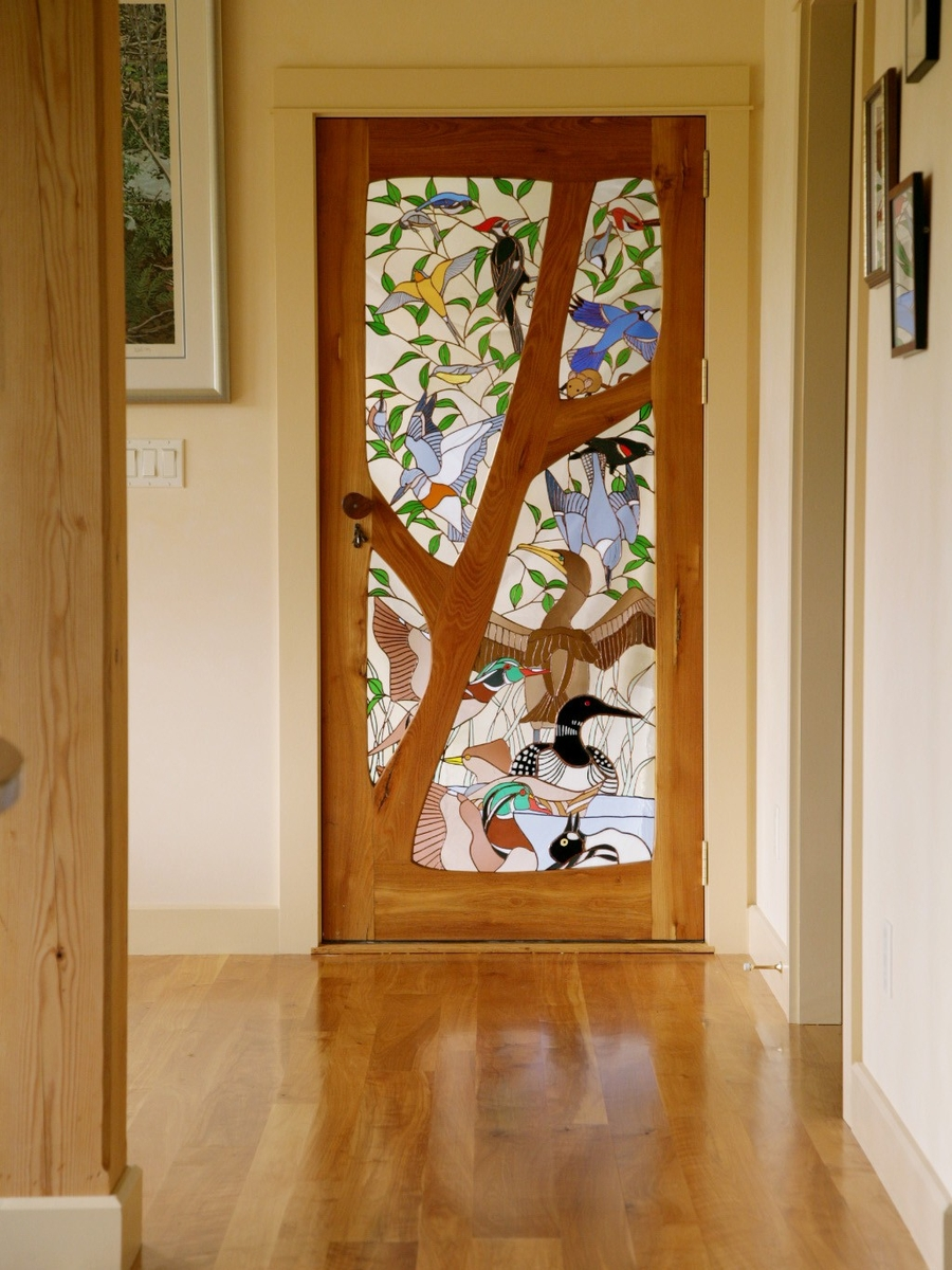 New stained glass internal doors in edwardian and for Glass panel interior door