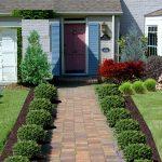 New Front Yard Landscape Plans Around Pathways