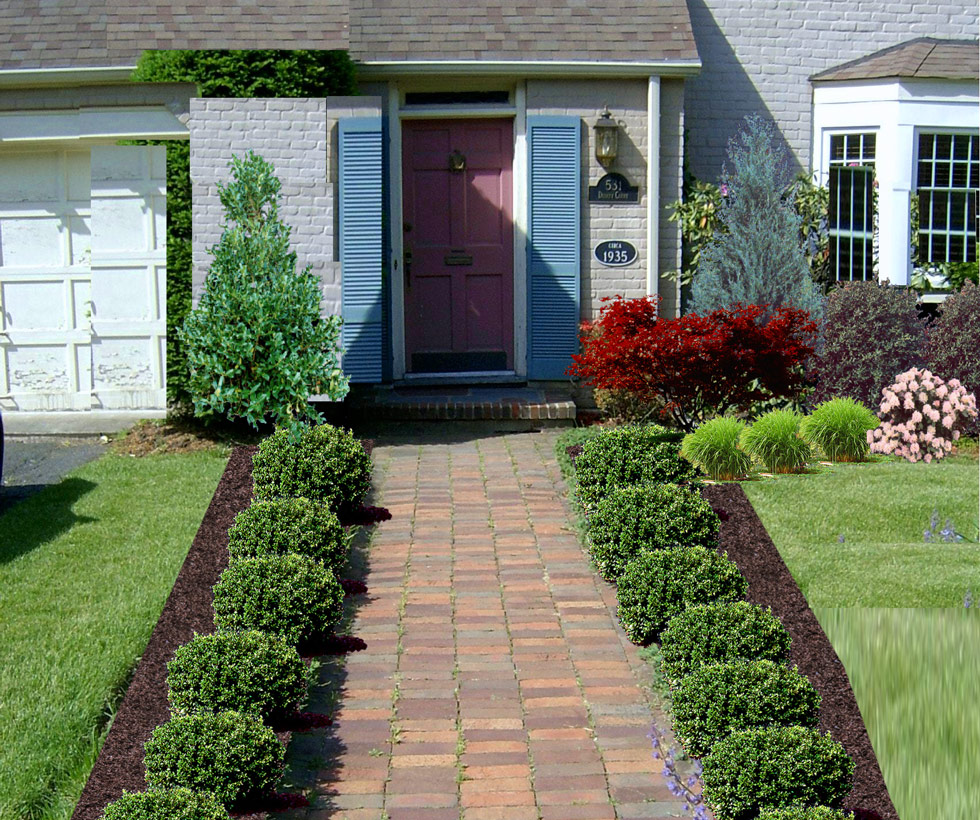 Cool Front Yard Landscape Plans Homesfeed Largest Home Design Picture Inspirations Pitcheantrous