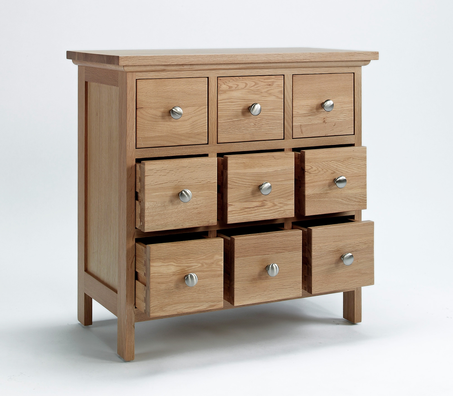 Nine parts of cd storage drawers with wooden style