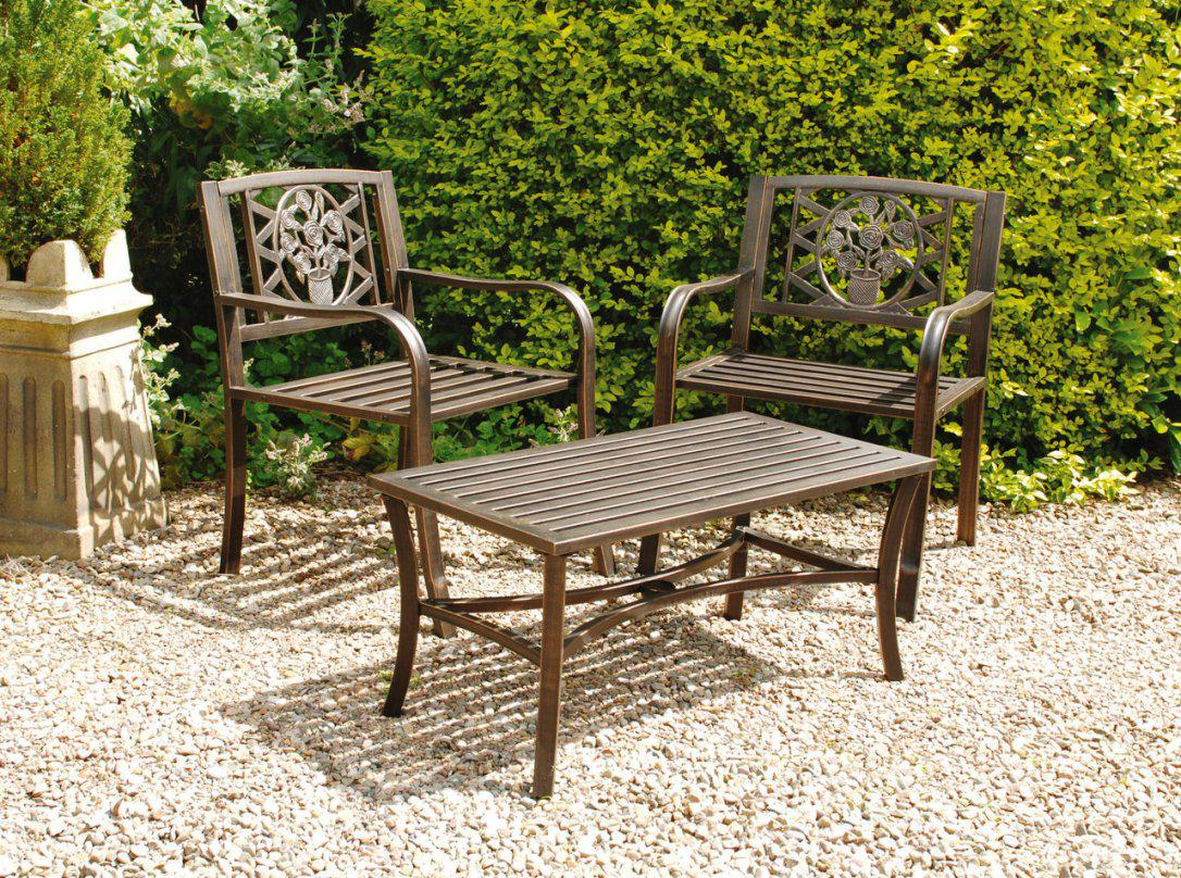 Outdoor Metal Table Set. Plain Metal Patio Throughout Outdoor Metal ...