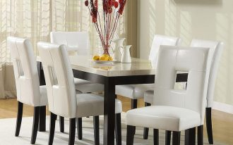 Oxford Creek Furniture For Dining Room With Dining Table And White Chairs