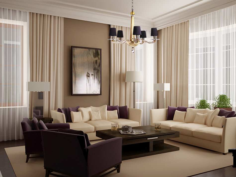 Paint Schemes Of Living Room Design Inspiration With Cream Color Of  Curtains And Sofa
