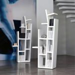 Porada free standing bookshelves with attrative shelving system for books