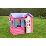 Portable playhouse for kids in pink blue and white colors