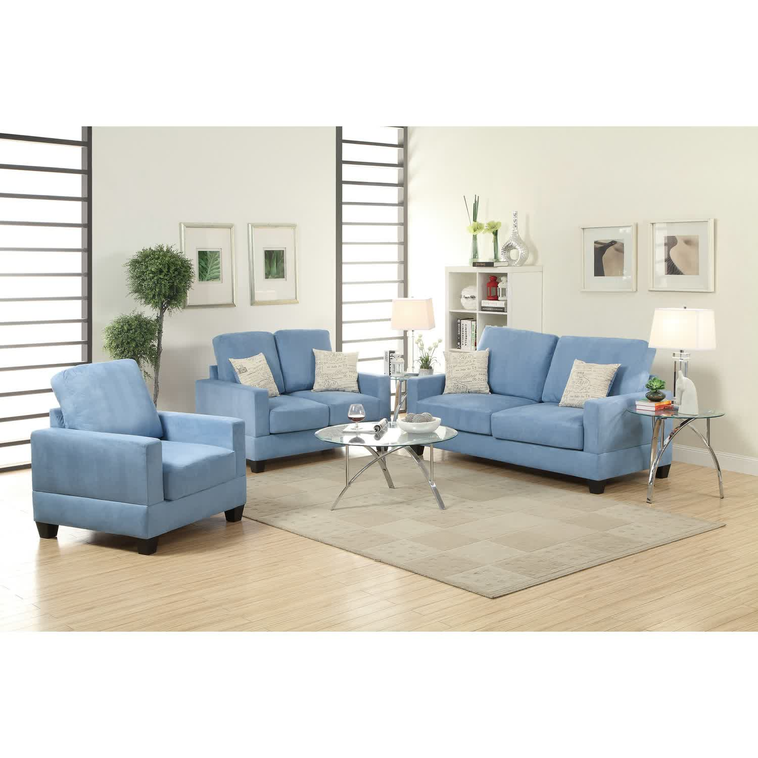Small Apartment Size Furniture. Pretty Blue Apartment Size Sectionals With  White Accent Pillows Round Clear