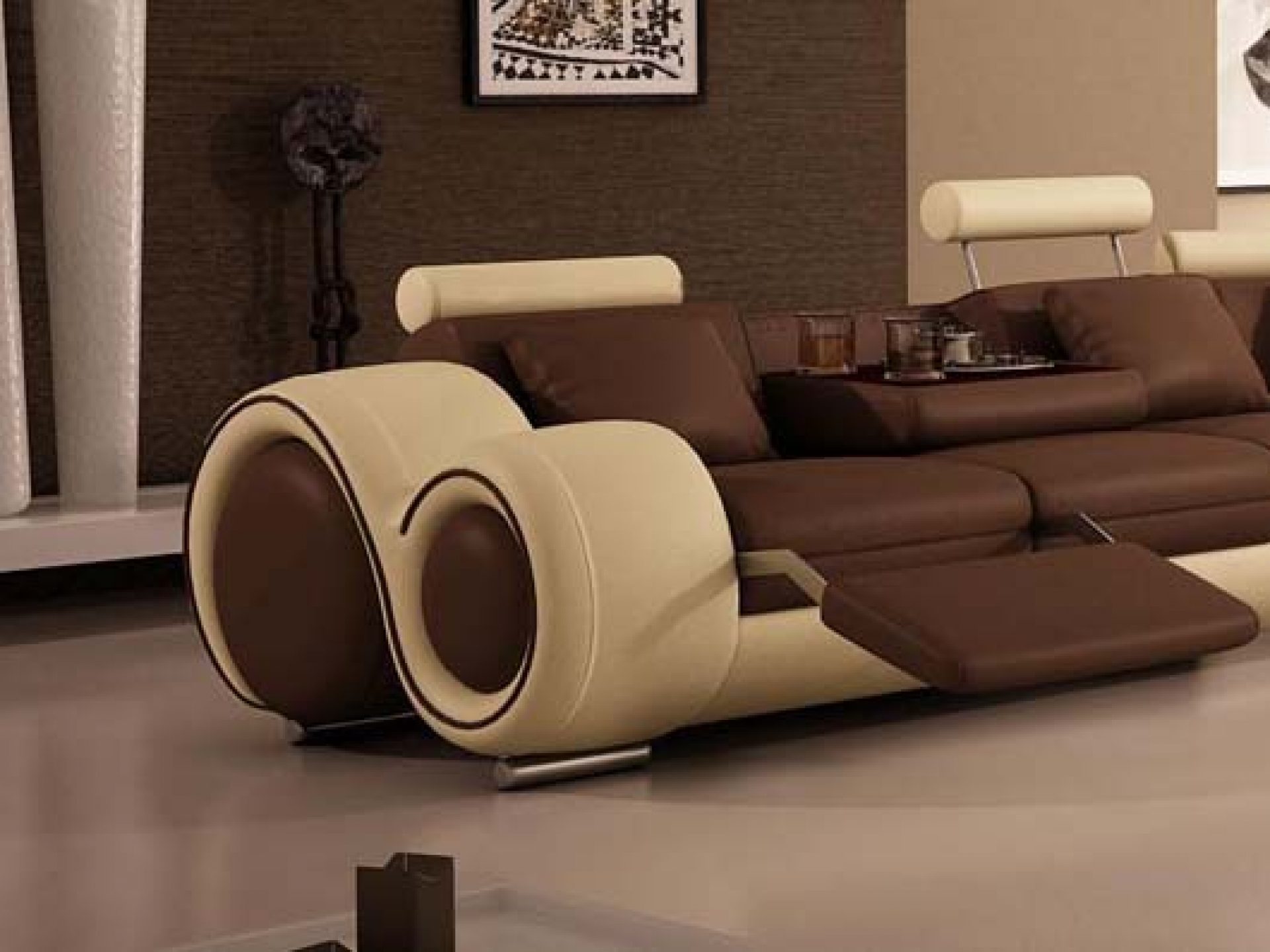 Unique sectional sofas homesfeed Reclining living room furniture