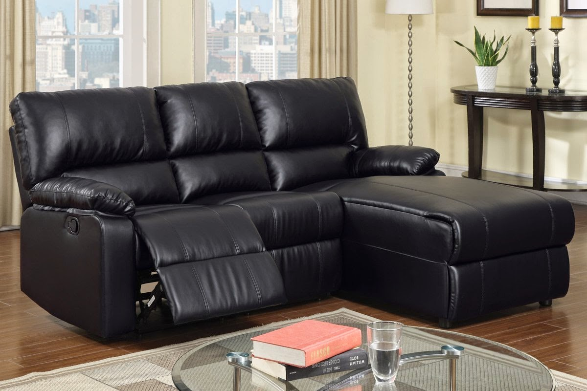Black Leather Reclining Sectional Products Homesfeed