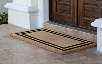 Rectangular Simple Double Door Mat