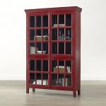 Red Tall China Cabinet