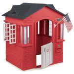 Red Dominant Playhouse From Tikes With An American Flag