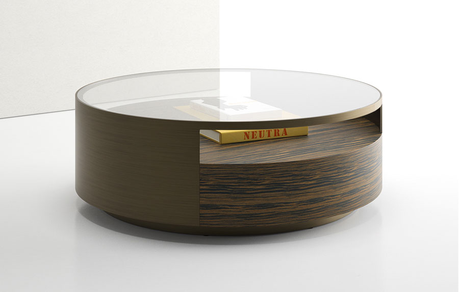 Round Coffee Tables With Storage And Glass On Top
