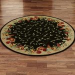 Round Model Of Rooster Kitchen Rugs