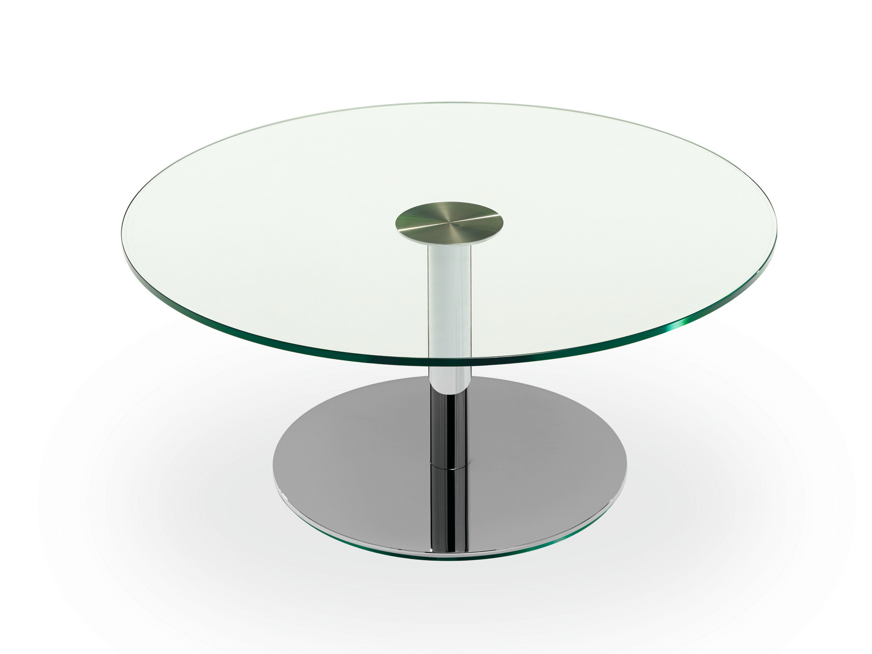 Small glass coffee tables homesfeed for Round glass coffee table top