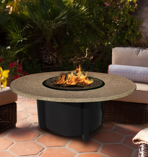 Awesome Round Natural Stone Fire Pit Table