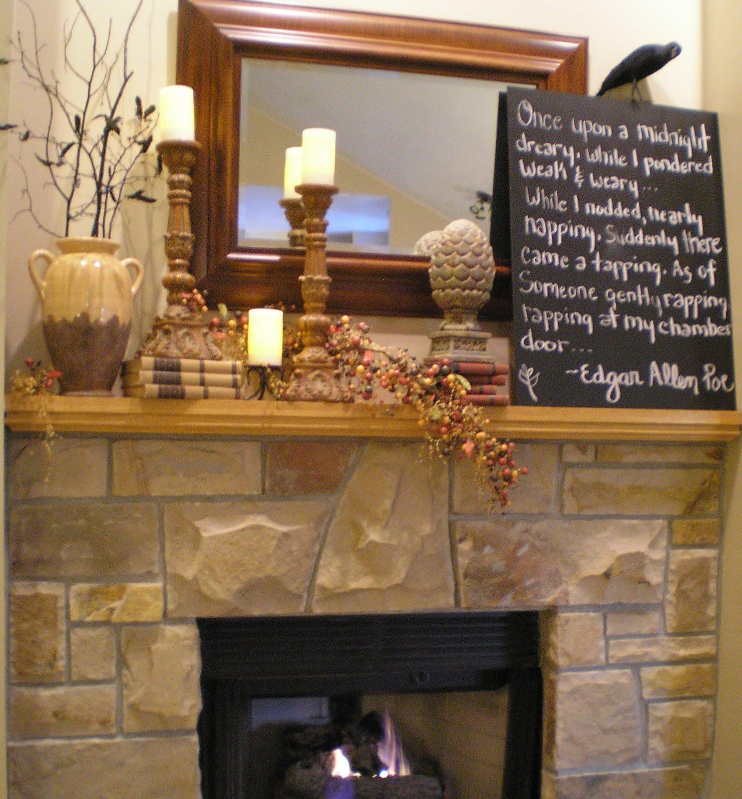 rustic mantel decor homesfeed