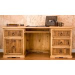 Rustic Office Desk Design Style With Drawers