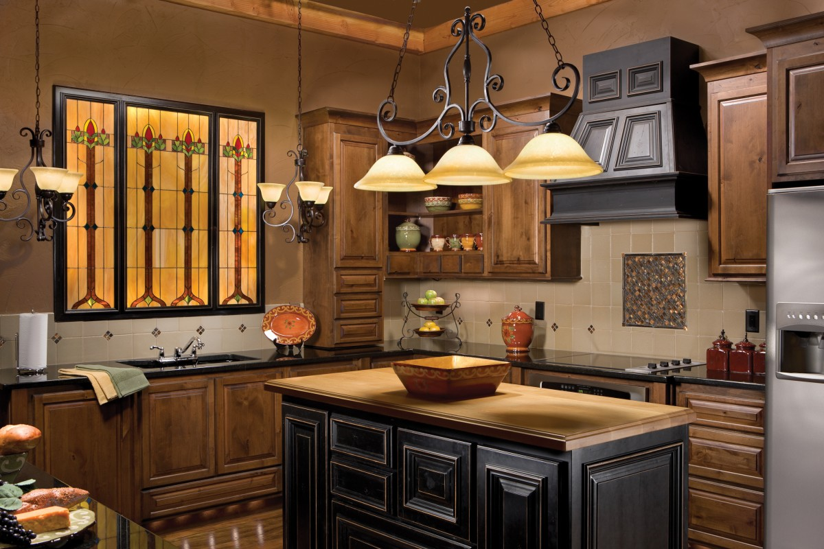 Kitchen Pendant Light Fixture HomesFeed - Wood kitchen light fixtures