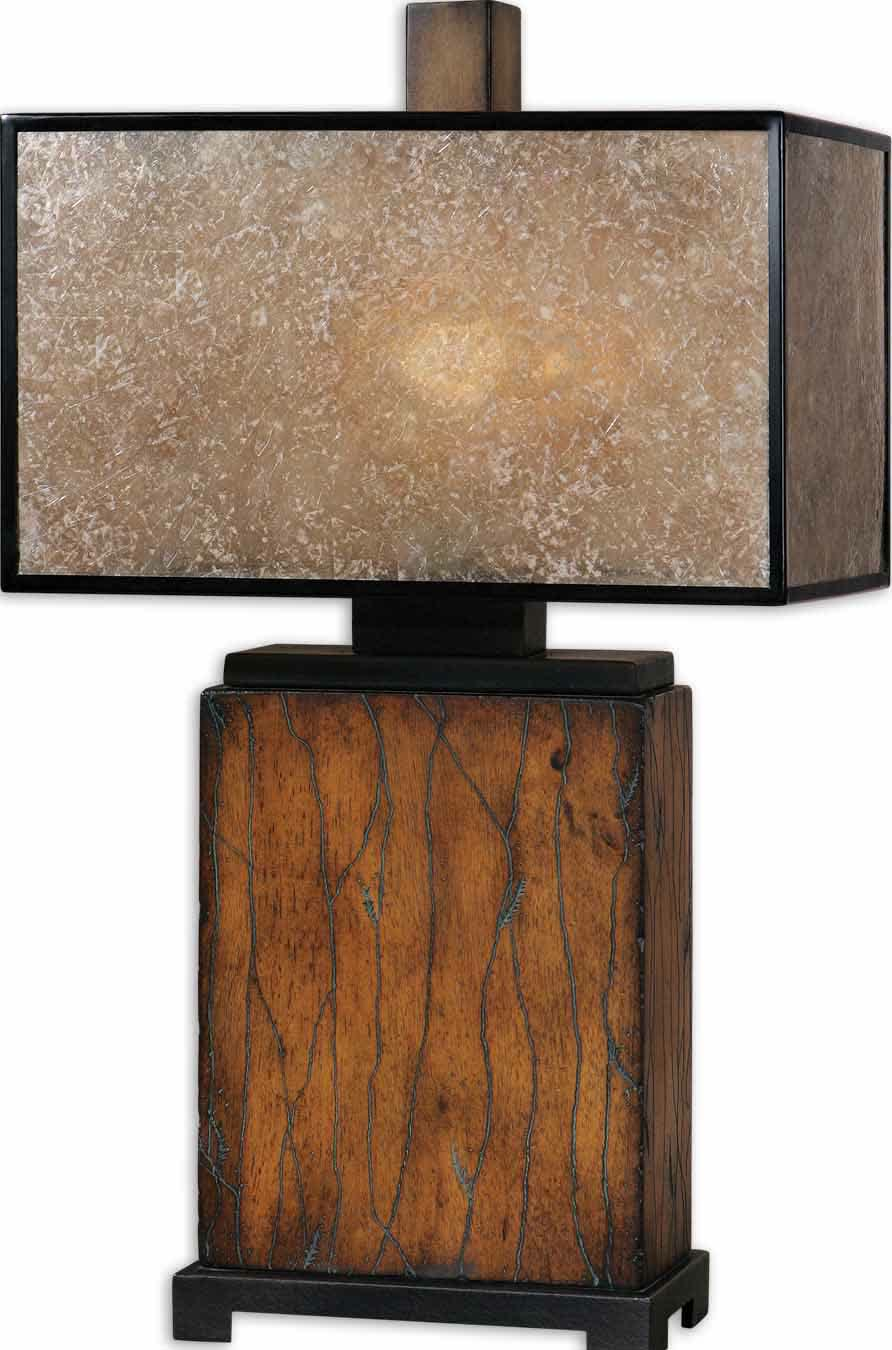 Rectangle lamp shades design variants and images homesfeed rustic floor lamp in earthy color scheme with cool shabby wood base and shabby dark shoji aloadofball Image collections