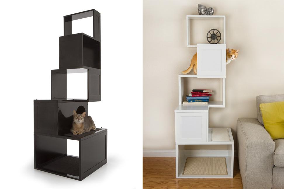 trendy cat furniture. sebastian modern cat tree and contemporary furniture in white black scheme featuring bookcase trendy a