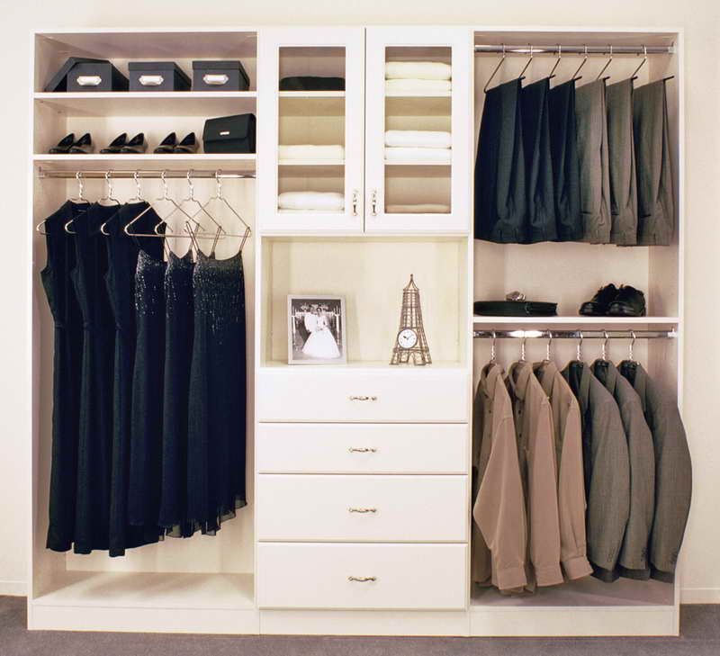 Ordinaire Simple White Closet Storage Idea With Drawers