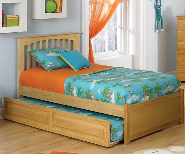 Double Trundle Bed For Kids Bedroom