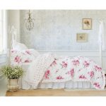 Simply-Shabby-Chic-Sunbleached-Floral-Comforter-Set-made-of-full-cotton-and-full-polyester-for-the-fill-material-with-coordinating-trim-and-poplin-weave-type