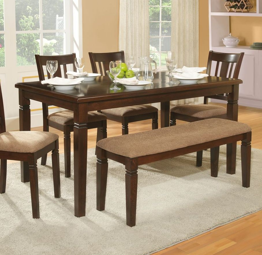 Rectangular Dining Table With Bench